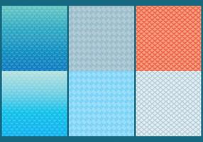 Fish Scale Patterns vector