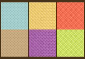 Fish Scale Patterns Line vector