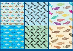 Vetores de padrões de peixe