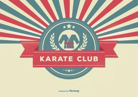 Retro Style Karate Club Illustration