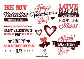 Conjunto de etiquetas de día de San Valentín