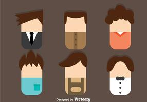Male Avatar Flat Style vector