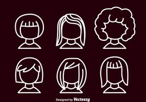 Girl Outline Avatar Set