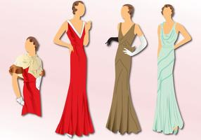 Fashion 1930 vector
