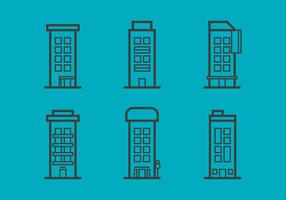 Free Townhomes Vector Icons #6