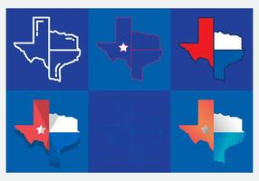 Texas Kaart Vector Pictogrammen # 5