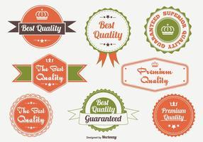 Insignia promocional de calidad y conjunto de etiquetas