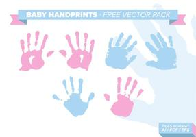Pack de vecteur gratuit Baby Handprints