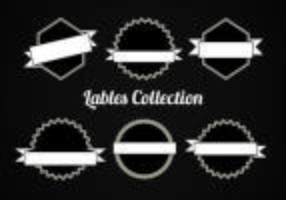 Collection gratuite de labels Vector