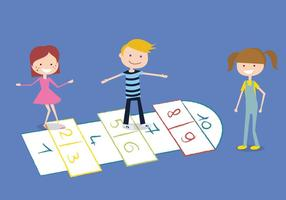 Hopscotch Free Vector