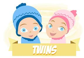 Baby Twins Free Vector