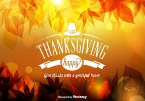 Fond d'action Happy Thanksgiving Free Vector