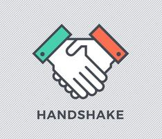 Flat Handshake Vector Icon