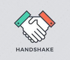 Gratis platt handskakvektor ikon
