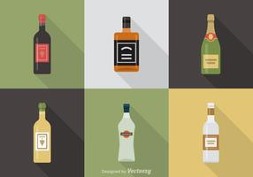 Alcoholic Beverages Vector Icons