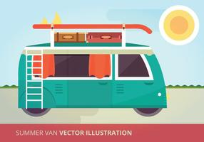 Summer Van Vector Illustration