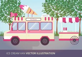 Ice Cream Van Vector Illustration