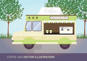 Coffee Van Vector Illustration