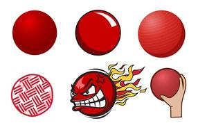 Freier Dodgeball-Vektor