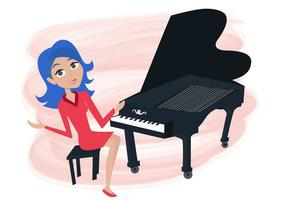 Piano Recital Free Vector