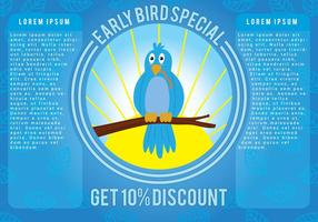 Early Bird Promotion Vector