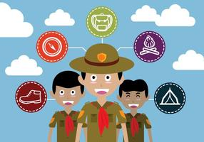 Pojke Scout Illustration Vektor