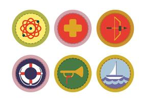 Vecteur badge scout