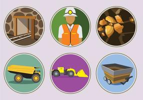 Gold Mine Icons vector