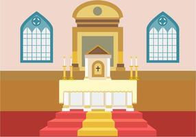 Altar de igreja livre de vetores