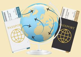 Tickets And Passports vector