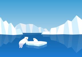 Vector libre del oso polar