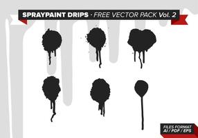 Spraypaint Drips Free Vector Pack Vol. 2