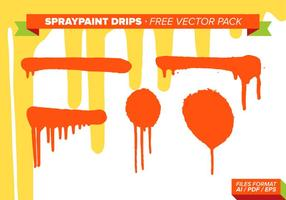 Spraypaint Drips Gratis Vector Pack