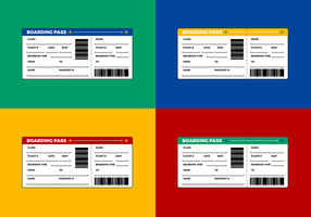 Airline Ticket - Boarding Pass Vector