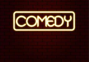 Vector libre del neón de la comedia