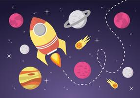 Space Landscape Vector Background
