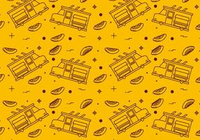 Free Foodtruck Vector Patterns #2