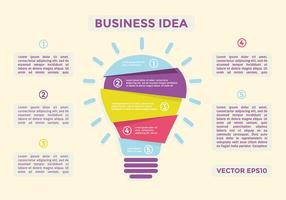 Gratis Flat Business Idee Vector
