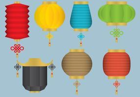 Orientaliska hängande ljusvektorer