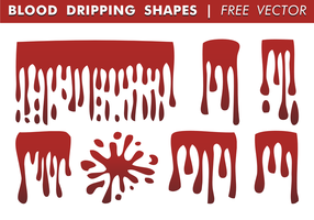 Blood Dripping Shapes Free Vector