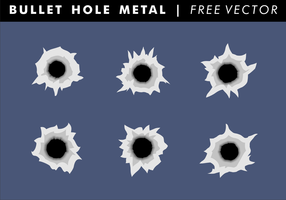 Bullet Hole Metal Free Vector