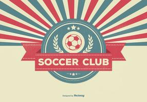 Retro Style Soccer Club Illustratie