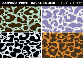 Leopard Print Achtergrond Gratis Vector