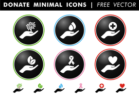 Donate Minimal Icons Free Vector