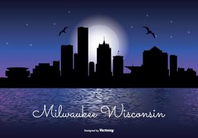Milwaukee natt skyline