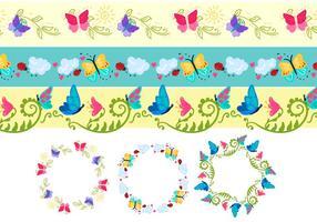 Färgglada fjäril vektorer