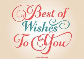 Typografische Best Wishes Illustratie
