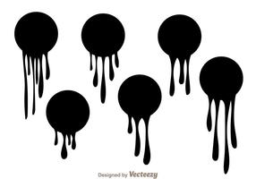 Black Paint Drip Vectors