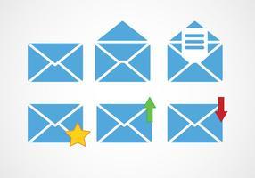 Icônes de vecteur de message