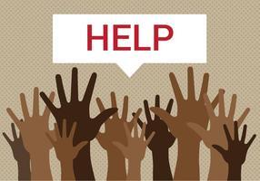 Refugiados grátis precisam de ajuda Vector